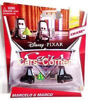 Disney Pixar Cars Marcelo & Marco die Casino Mitarbeiter - Mattel Neu & OVP