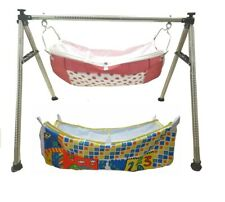 Smart Baby Products Round Pipe Steel Folding Baby Cradle KR84