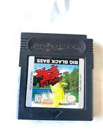 Big Black Bass Lure Fishing Nintendo Game Boy Color Game TESTED WORKING! VG!