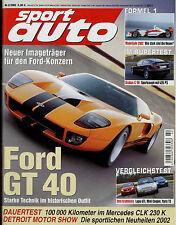 sport auto 2/02 2002 Brabus C V8 Edo Porsche GTR 3 Ford GT 40 CLK 230 Lupo GTI