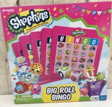 Shopkins Big Roll Bingo Game Kids Girls Toy For 2-6 players ages 4 and up NIB