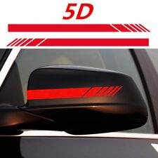 2Pcs Car Rearview Mirror Carbon Sticker Fiber 5D  Racing Stripes Decal Garnish