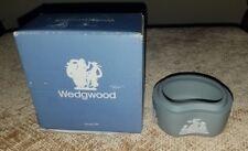 Wedgwood Jasperware White On Grey Without Lid Bean Box