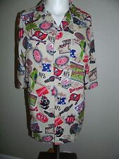 NFL Tampa Bay Buccaneers Football Button Front Camp Shirt sz M RARE