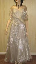 STRAPLESS SILVER GOWN Evening Prom Dress CORSET BUSTIER 2x 3x JR PLUS SIZE 3xl