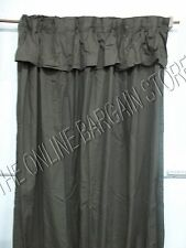 1 Ballard Designs Pleated Valance Cotton Drapes Panels Curtains Chocolate 54x108