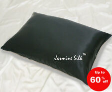 Jasmine Silk Pair Silk Pillow cases Black