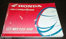 Uso E Manutenzione Honda @ Nes 125 150 Stand 2000