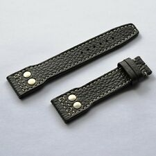 22mm Buffalo strap Big Pilot Aviator Navigator M black with rivets