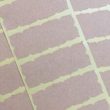 Frame Sticker, Label, Seal, Kraft Brown Adhesive Binder Organization 30pc