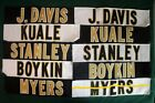 120 New Orleans Saints Game Worn Issued Football Jersey Nameplates