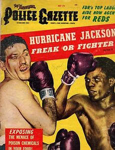 1954 Police Gazette July - Hurricane Jackson;Hitler weds his blonde;Leo Durocher