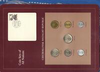 Coin Sets of All Nations Czechoslovakia 1976-1981 UNC 5 Korun 1981 2 Korun 1976