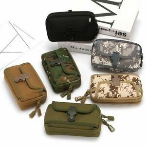 Military,Camouflage Molle Pouch Tactical  Belt Waist Pack Wallet Purse Packet