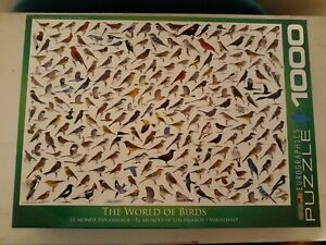 """The World of Birds"" David A. Sibley 1000 Piece Jigsaw Puzzle Eurographics"