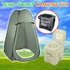 20l Outdoor Portable Camping Toilet Shower Tent With 40l Shower Bag