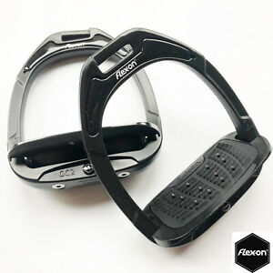 """Flex-on """"Green"""" Composite Stirrups with Inclined Ultra Grip Tread - All Black"""