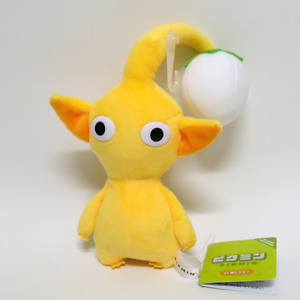 """Yellow Pikmin with Bulb Plush Toy 6.5"""" Tall OFFICIAL SANEI"""