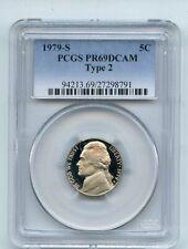 1979 S 5C T2 Type 2 Jefferson Nickel Proof PCGS PR69DCAM
