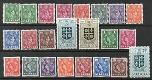 ST LUCIA 1949 SET to 50c, PLUS SOME QEII *** VERY FINE MINT ***