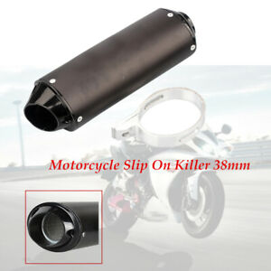 Aluminum 38mm ATV Motorcycle Exhaust Pipe Muffler For 90cc  110cc 125cc