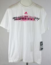 Adidas F50 Lionel Messi Meg Shot Goal Tee Shirt Size Large NWT White/Pink