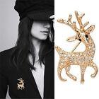 New Fashion High Quality Exquisite Sika Deer Brooch Shining Rhinestone Jewelry M