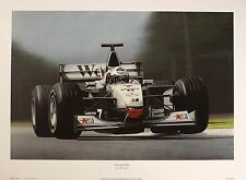 RAY GOLDSBROUGH McLaren F1 David Coulthard art SIZE:41cm x 61cm  RARE