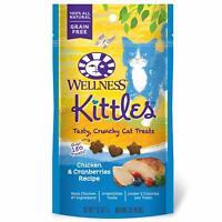 Wellness Kittles Crunchy Grain Free Cat Chicken & Cranberries Treats 2 Ounces