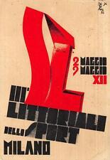 A1004) FUTURISMO MILANO 1934 LITTORIALI DELLO SPORT. ILL. MAGA VG NEL 1934.