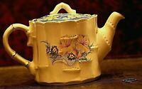 Beautiful Vintage Sadler Bamboo China/Porcelain White Teapot Collectible