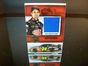 Jeff Gordon Press Pass Pieces Race-Used Car Cover 2009 Card #PP-JG