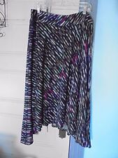 NEW DIRECTIONS  XL New~skirt NEW stretch waist Black print NEW $48