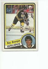 RAY BOURQUE 1984-85 Topps Hockey card #1 Boston Bruins EX