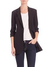NWT Theory Dalingwood B Edition Black Wool One Button Long Suit Blazer Jacket 0