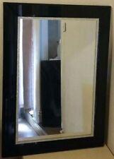 Large Mirror Black Frame Velvet Trim