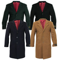 Mens Wool Cashmere Coat Jacket Outerwear Trench Overcoat Warm Winter Lined New