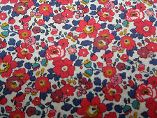 "Liberty of London Tana Lawn Tissu ""BETSY ANN A' 1.1 mètres (110 cm) x 136 cm rouge"