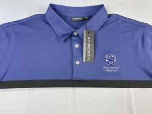 Ashworth Trump National Bedminster Striped Polo Golf Shirt Men's 2XL