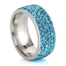 Men Women Stainless Steel Titanium Band Ring Wedding Engagement Size 7-12