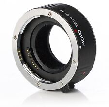 Movo MT-C25 25mm AF Chrome Macro Extension Tube for Canon EOS DSLR Camera