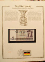 GDR East Germany Banknote 1975 5 Mark UNC P 27a UNC  w/FDI UN FLAG PRFIX QJ