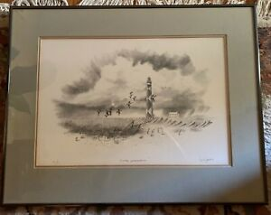 """Herb Jones Signed  Artist Proof """"Cape Lookout"""" Framed 19"""" x 24"""" overall size"""