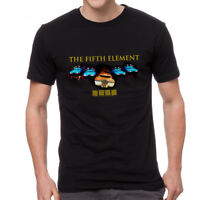 The Fifth Element Cars Poster Men's Black T-shirt NEW Sizes S-2XL