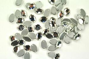 Clear Swarovski 10x7mm Crystal Sew On Oval Rhinestones #3212/2 - 72 pieces -A034