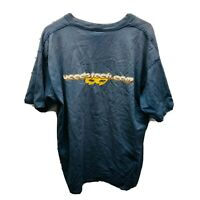 Vintage Distressed 1998 Woodstock Woodstock.com Tee T Shirt Men's XL