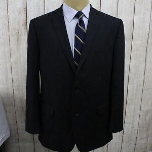 New 46L Marc New York Classic Fit Stretch Men's Black  Dual Vent Suit OC1