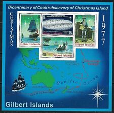 GILBERT ISLANDS:1977 SC#303A S/S MNH  Christmas; bicentenary of Capt. Cook's dis