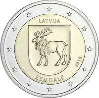 Lettland 2 Euro 2018 Zemgale Historische Landschaft Semgallen bankfrisch