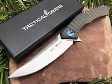 Full Tc4 Titanium Folding Knife! Polished D2 Steel! Ball Bearing Pivot System!